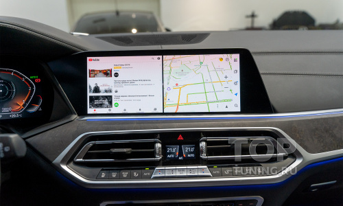 Навигация с пробками и видео в движении для BMW X7, X6, X5