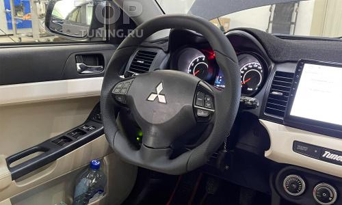 Установка анатомического руля Ego Skill на Mitsubishi Lancer X
