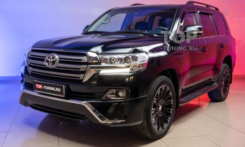Установка обвеса Executive Black на Toyota Land Cruiser 200