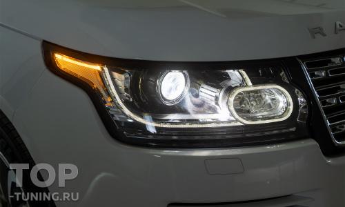 Битва эталонного би-ксенона и лазерного Bi LED света в Range Rover 4 (2017)